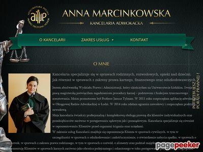 Kancelaria adwokacka Anny Marcinkowskiej w Łodzi