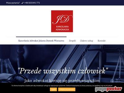 Kancelaria Adwokacka Adwokat Jolanta Dymek