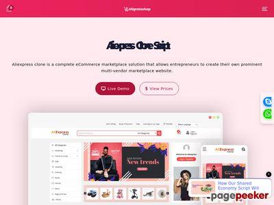 http://aliexpressclone.migrateshop.com/ website snapshot