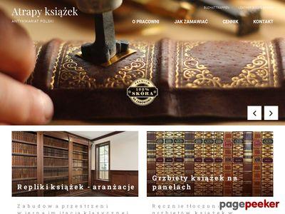 Gabinet Biblioteka wyposażenie design atrapy książek