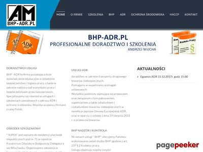 AM szkolenia BHP, ADR