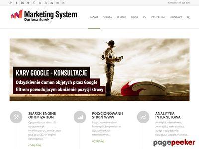 Pozycjonowanie - Marketing System Dariusz Jurek