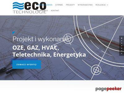 Eco Technologie - wykonanie instalacji gazowych