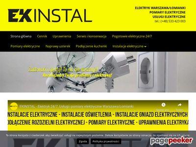 Usługi elektryczne - EKinstal Jakub Pluta