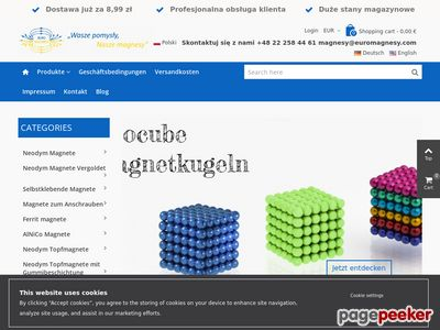 EURO MAGNESY - sklep z magnesami alnico