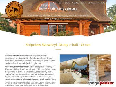 Domy z bali i domy z drewna - Zbigniew Szewczyk