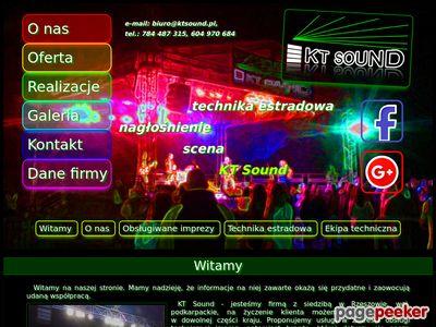 KT Sound - usługi z zakresu nagłośnienia imprez