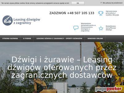 Żuraw samojezdny - leasingdzwiguzzagranicy.pl