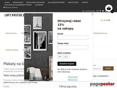 Loft-poster-design.pl-nowoczesne dekoracje ścian