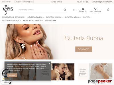 Biżuteria sklep internetowy Mak-biżuteria oferujący duże rabaty.