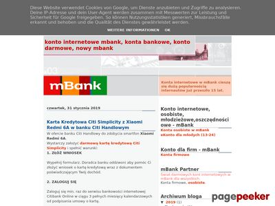 Konto internetowe - darmowe, osobiste w mBank