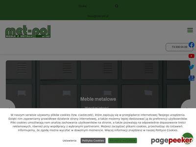 MET-POL łóżko piętrowe metalowe