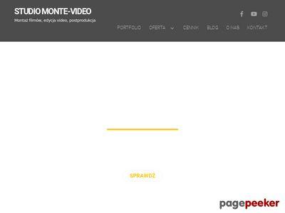 Montaż filmów, edycja video, filmowanie, postprodukcja