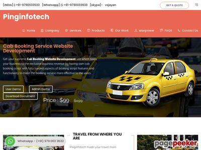 http://pinginfotech.com/cab-booking-service-website-development.php website snapshot