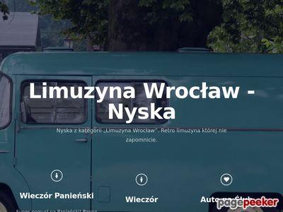RetroNyska - Wynajem Limuzyny Wrocław.