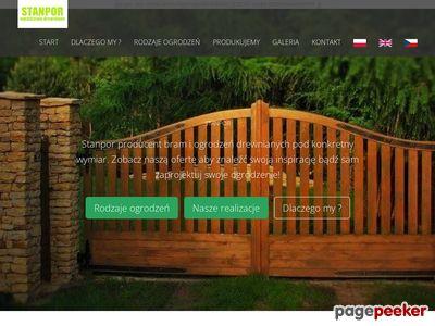 Stanpor - producent bram i ogrodzeń drewnianych