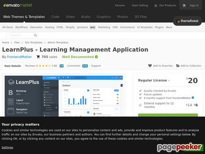 http://themeforest.net/item/learnplus-learning-management-application/15287372?ref=AaronSmith28 website snapshot