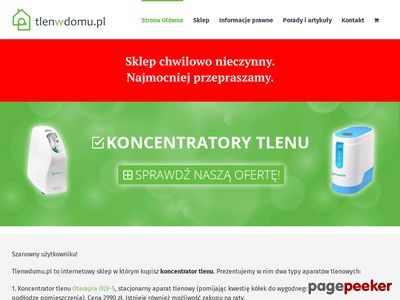 Przenośna tlenoterapia - tlenwdomu.pl