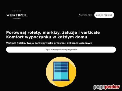 Rolety rzymskie markizy Bydgoszcz