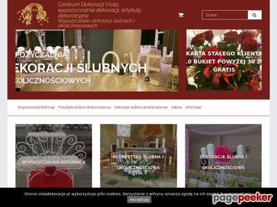 Dekoracje ślubne sklep online