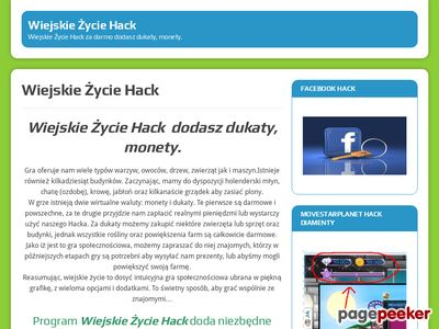 Wiejskie Życie Hack za darmo dodasz dukaty, monety