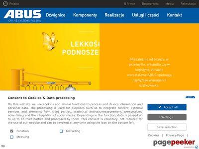 ABUS - suwnice, żurawie, wciągniki, wciągarki