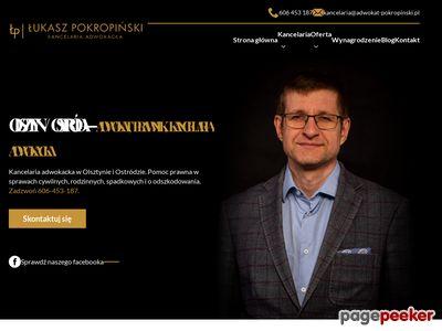 Adwokat w Ostródzie - Łukasz Pokropiński