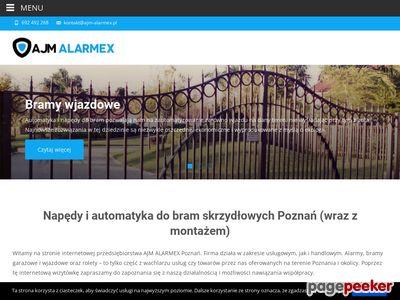 AJM-Alarmex- alarmy,domofony,bramy garażowe,rolety