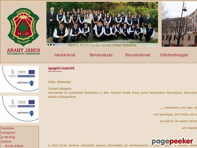 Nagykőrös - Arany János Református Gimnázium, Szakképzőiskola és Diákotthon