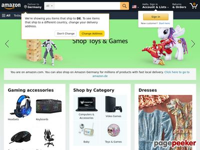 Amazon.com Inc. Website