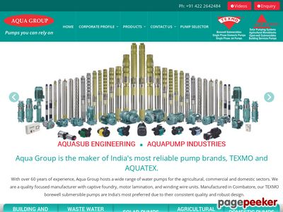 Details : Pump Manufacturers in India  - aquagroup.in