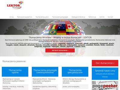 Tłumaczenia Wrocław - Agencja Tłumaczeń LEKTOR