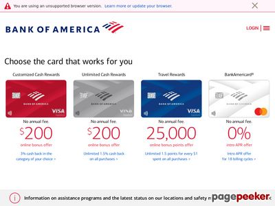 Bank of America Corporation Website