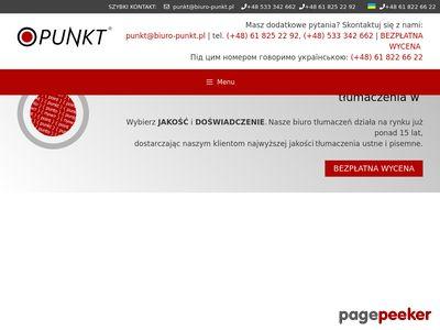 Tłumaczenia przysięgłe - biuro-punkt.pl