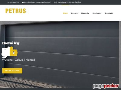 Bramy garażowe Lublin naprawa - www.bramygarazowe.lublin.pl