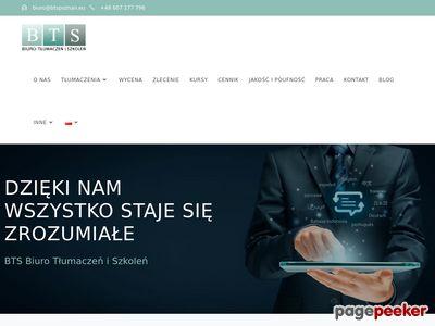 Biuro Tłumaczeń i Szkoleń BTS Sc.