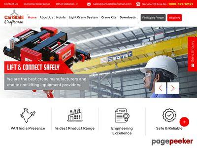 Details : Crane Manufacturers in India - carlstahlcraftsman.com