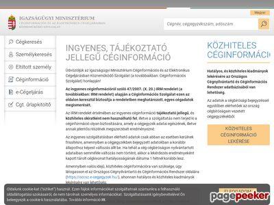 e-Cégjegyzék - Ingyenes Céginformáció