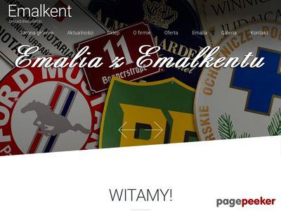 Emalkent - szyldy emaliowane