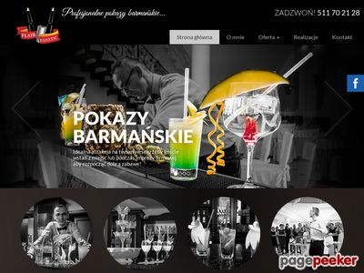 Pokazy barmańskie - drinki molekularne - fontanny alkoholowe