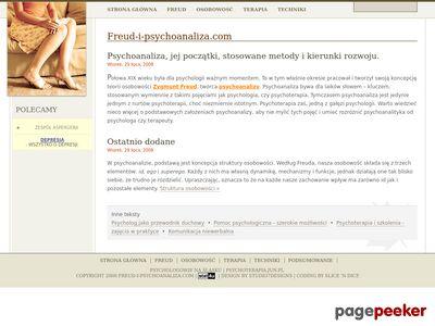 Strona o psychoanalizie