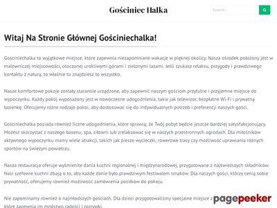 Noclegi w górach - Gościniec Halka