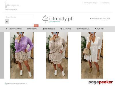 Modne sukienki na i-Trendy