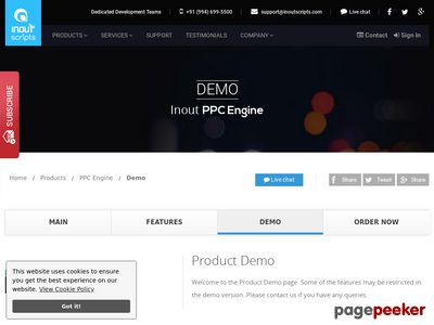 http://www.inoutscripts.com/demo/inout-ppc-engine/demo/?index1 website snapshot