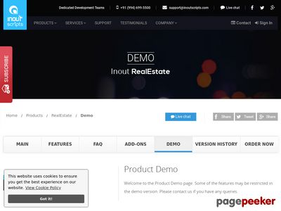 http://www.inoutscripts.com/demo/inout-realestate/demo/?index1 website snapshot
