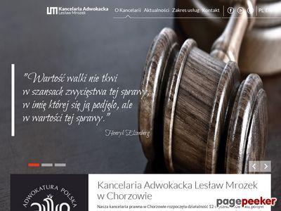 Mrozek Lesław kancelaria adwokacka Chorzów
