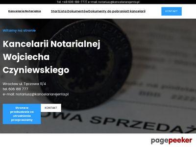 A. CZYNIEWSKA, W. CZYNIEWSKI notariusz