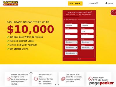 LoanMax Title Loans Website