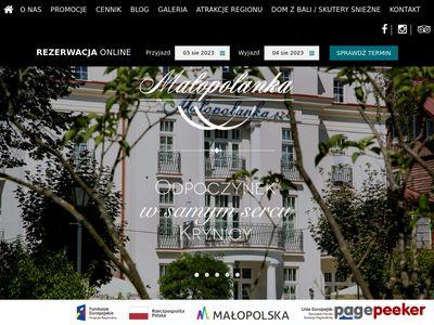 Hotel Noclegi Krynica | Pensjonat w Krynicy - Małopolanka amp; Spa