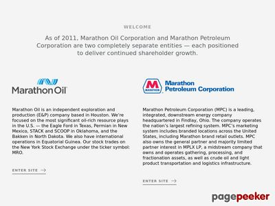 Marathon Oil Corporation Website